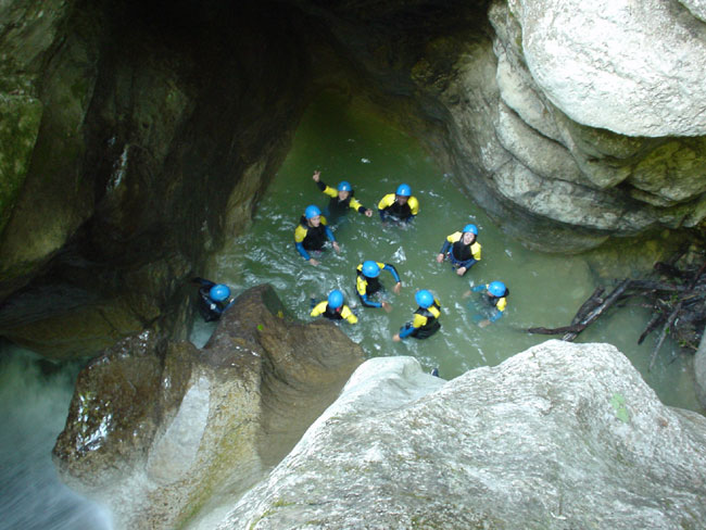 CANYONING à St CLAUDE (Jura)