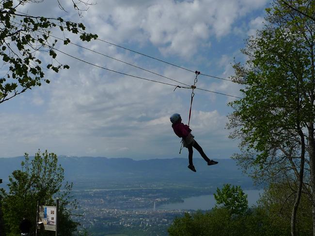 Tyrolienne & atelier dans les arbres