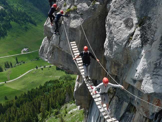 Autres via ferrata en Savoie Mt-Blanc